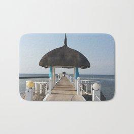 sea boardwalk Bath Mat