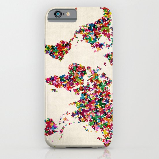 Butterflies Map of the World Map iPhone & iPod Case