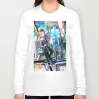 architect Long Sleeve T-shirts featuring Heavens Architect by True Last Boss