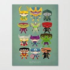 avengers and villains Canvas Print