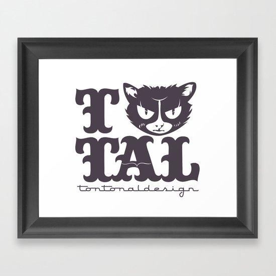 TTAL cat purple Framed Art Print