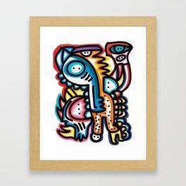 Dreaming Graffiti Art Monsters by Emmanuel Signorino© Framed Art Print