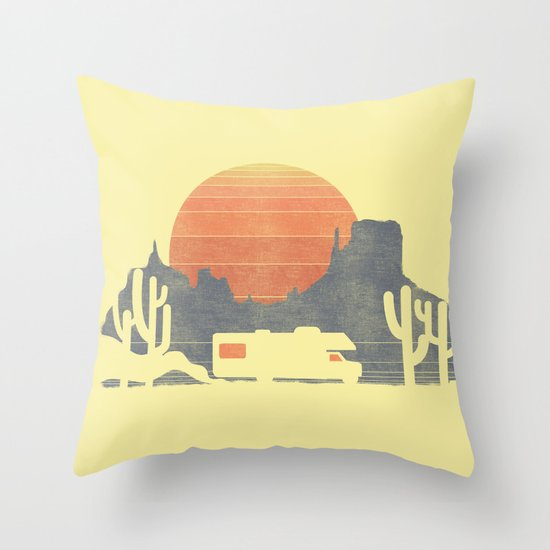 Trail of the dusty road Throw Pillow