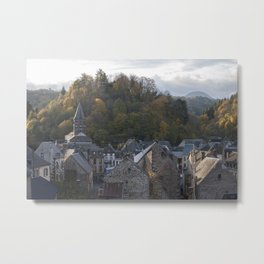 A small city in Auvergne, France. Metal Print