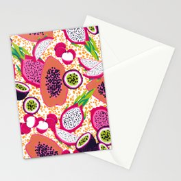 Tropical Fruit Salad Stationery Cards