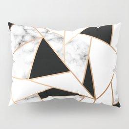 Black & White Marble Pillow Sham