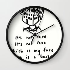 Love -> Building on Fire Wall Clock