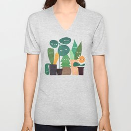 The plants are watching (paranoidos maximucho) Unisex V-Neck