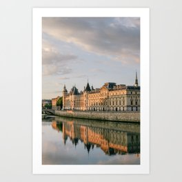 Seine River in Paris at Sunrise Art Print