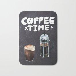 Coffee blackboard lettering — Coffee time Bath Mat