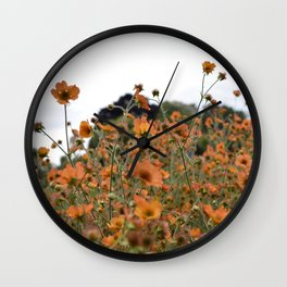 Flowers! Orange! Nature! Wall Clock