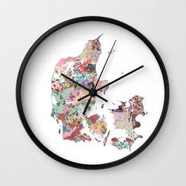 Danemark map Wall Clock