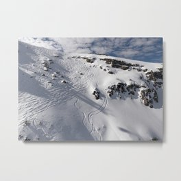 Ski Slopes Metal Print