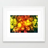 bokeh Framed Art Prints featuring bokeh by davidmichel