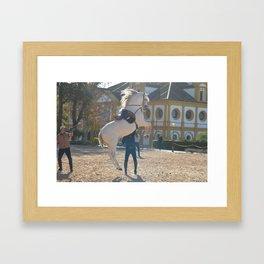 Jumping Horse Framed Art Print