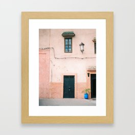 """Travel photography print """"Pastel Marrakech"""" photo art made in Morocco. Warm colored. Art Print Framed Art Print"""