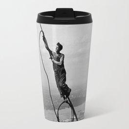 Lewis Hine - Icarus, Empire State Building, 1930 Travel Mug