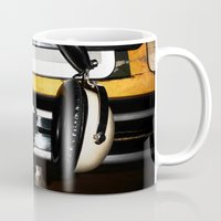 old school Mugs featuring Old School by Anand Brai