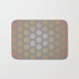 Hexagonal Dreams - Orange Gradient Bath Mat