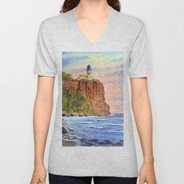 Split Rock Lighthouse Minnesota USA Unisex V-Neck