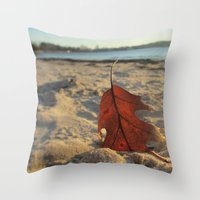 sand Throw Pillows featuring Sand by Jillian Stanton