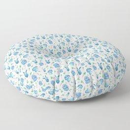 Blue Bunny Pattern Floor Pillow