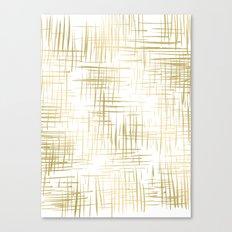 Crosshatch Gold Canvas Print