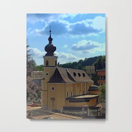 The village church of Helfenberg IV | architectural photography Metal Print
