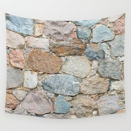old wall from field stones Wall Tapestry