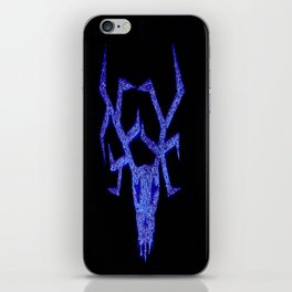 Wendigo Blue Aura iPhone Skin