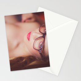 Naked woman looking at you Stationery Cards