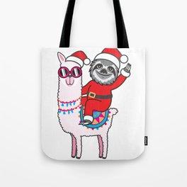 Sloth Llama Tote Bag