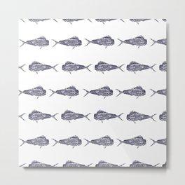 mahi mahi pattern Metal Print