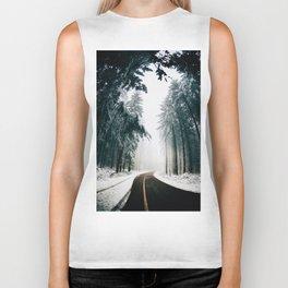 The Winter Trail (Color) Biker Tank