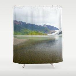 Mendenhall Glacier Juneau Alaska Shower Curtain
