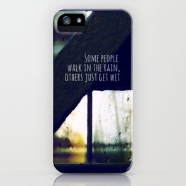 just another rainy day in paradise iPhone Case