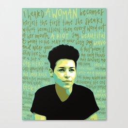 Denice Frohman. Canvas Print