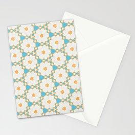 Daisy Blue Pattern Stationery Cards