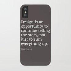 Design - Quotable Series iPhone X Slim Case