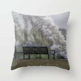 Big Splash at Gloucester boulevard Throw Pillow