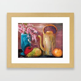 Kettle and Fruit Framed Art Print
