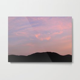 Moonrise over Death Valley Metal Print