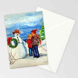Christmas Watercolor 0001  - Mildred Stazer Stationery Cards