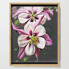 Floral Embosses: Double Columbine 01-01 Serving Tray