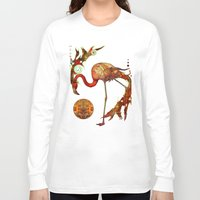 flamingos Long Sleeve T-shirts featuring Flamingos by Waelad Akadan