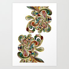 Liquid Bling Paisley Tattoo Art Print