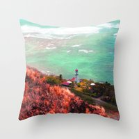 lighthouse Throw Pillows featuring Lighthouse by Kakel-photography