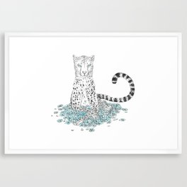 Blue Kitty Framed Art Print
