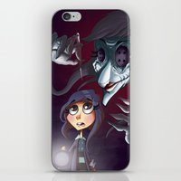 coraline iPhone & iPod Skins featuring Coraline by Phil Vazquez