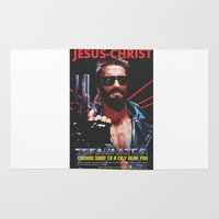 terminator Area & Throw Rugs featuring God's Terminator by Jessie J. De La Portillo